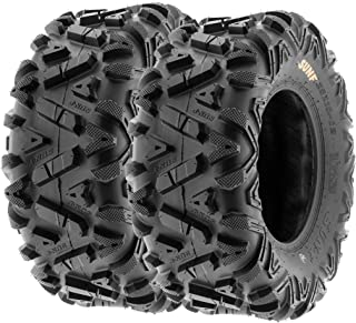 SunF A033 ATV/UTV Tires -- 25x11-12 -- 6 Ply | Pair of 2 | All-Terrain Off-Road