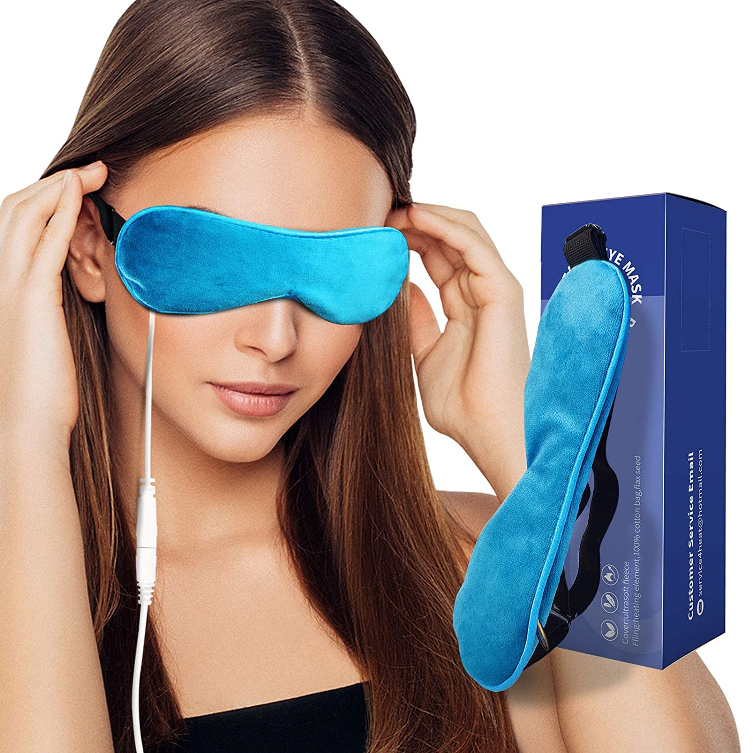 Heated Eye Mask 2021new shipping free Weighted Compress Flaxseed Natural A with Nashville-Davidson Mall