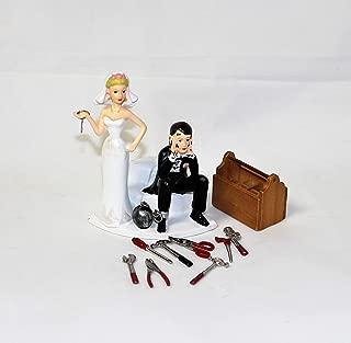 Wedding Reception Ball Chain Garage Mechanic tool grease Cake Topper