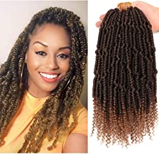 8 Bundles 12 Inch Senegalese Spring Twist Hair Crochet Hair With curly Ends Bounce Synthetic Braiding Hair Crochet Braids Hair Passion Twsit Hair(T27#)