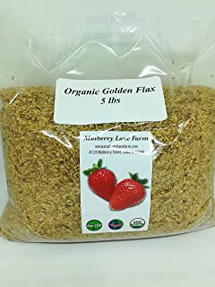 Golden Flax Seed (Flaxseed) 5 Pounds Whole Raw USDA Certified Organic, Non-GMO, Bulk