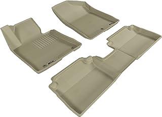 3D MAXpider Complete Set Custom Fit All-Weather Floor Mat for Select Hyundai Elantra GT Models - Kagu Rubber (Tan)