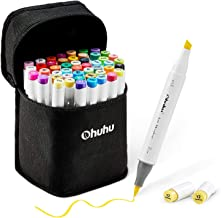 48-Color Art Markers Set, Ohuhu Dual Tip, Brush Sketch Marker for Kids, Artist, Students, Brush Markers for Sketching, Adu...