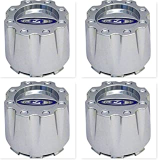 4 Pack MOTO METAL 950 951 CHROME CENTER CAP 5 OR 6 LUG 353K83 S409-16
