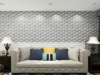 Art3D 3D Plantfiber Wall Tile, Puzzle Hexagon Design in Primed White, Pack of 18 Tiles Cover 41 sq.ft