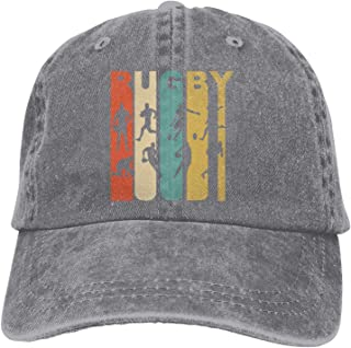Vintage Rugby Sports Denim Cap Adjustable Snapback Unisex Plain Baseball Cowboy Hat