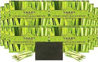 Vaadi Herbals Enticing Lemongrass Scrub Soap, 75g (Pack of 12)