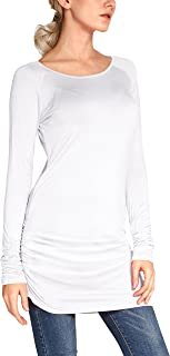 Women's Casual T-Shirt Long Sleeve Solid Tunic Tops Slim Fit