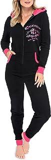 BIBOKAOKE Damen Jumpsuit Pyjama Einteiler Trainingshose Funktioneller Schlafanzug f/ür Erwachsene mit Knopfleiste vorne Elegant Butt Button Back Flap Strampler Langarm Bodycon Onesies
