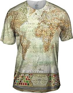 Yizzam- Ash World Map -Tshirt- Mens Shirt
