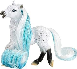 "Breyer Horses Mane Beauty Li'l Beauties | Daybreak | Brushable WHITE and BLUE Mane and Tail | 4.25"" L x 3.25"" H |Model #7413"