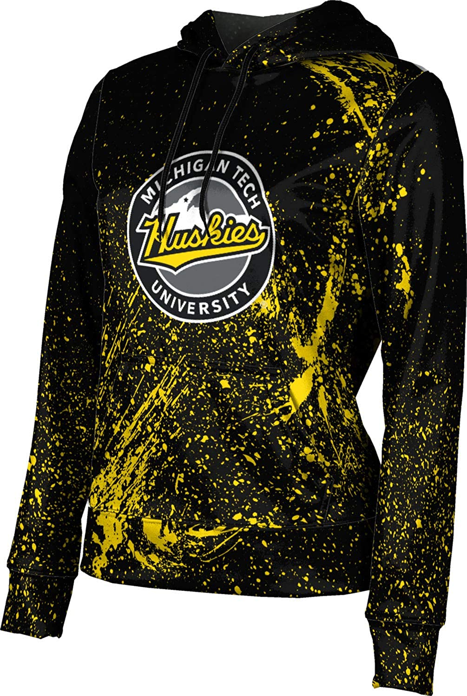 ProSphere Michigan Technological University Girls' Pullover Hoodie, School Spirit Sweatshirt (Splatter)