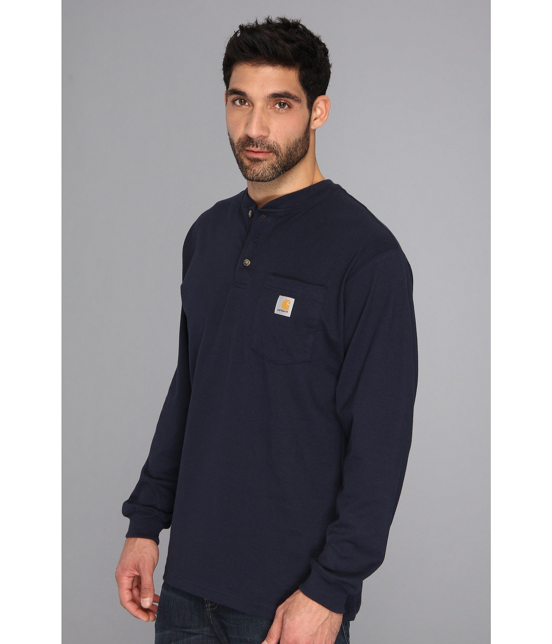 s Henley Carhartt amp; Workwear L Tall Navy Big Pocket rT0qrYw