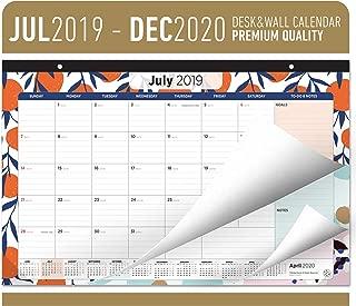Oriday Academic Desk Calendar 2019-2020 - Monthly Wall & Desk Pad Calendar - Daily Planner & to-Do List Notepad (18 Months - July 2019 Through December 2020, 17