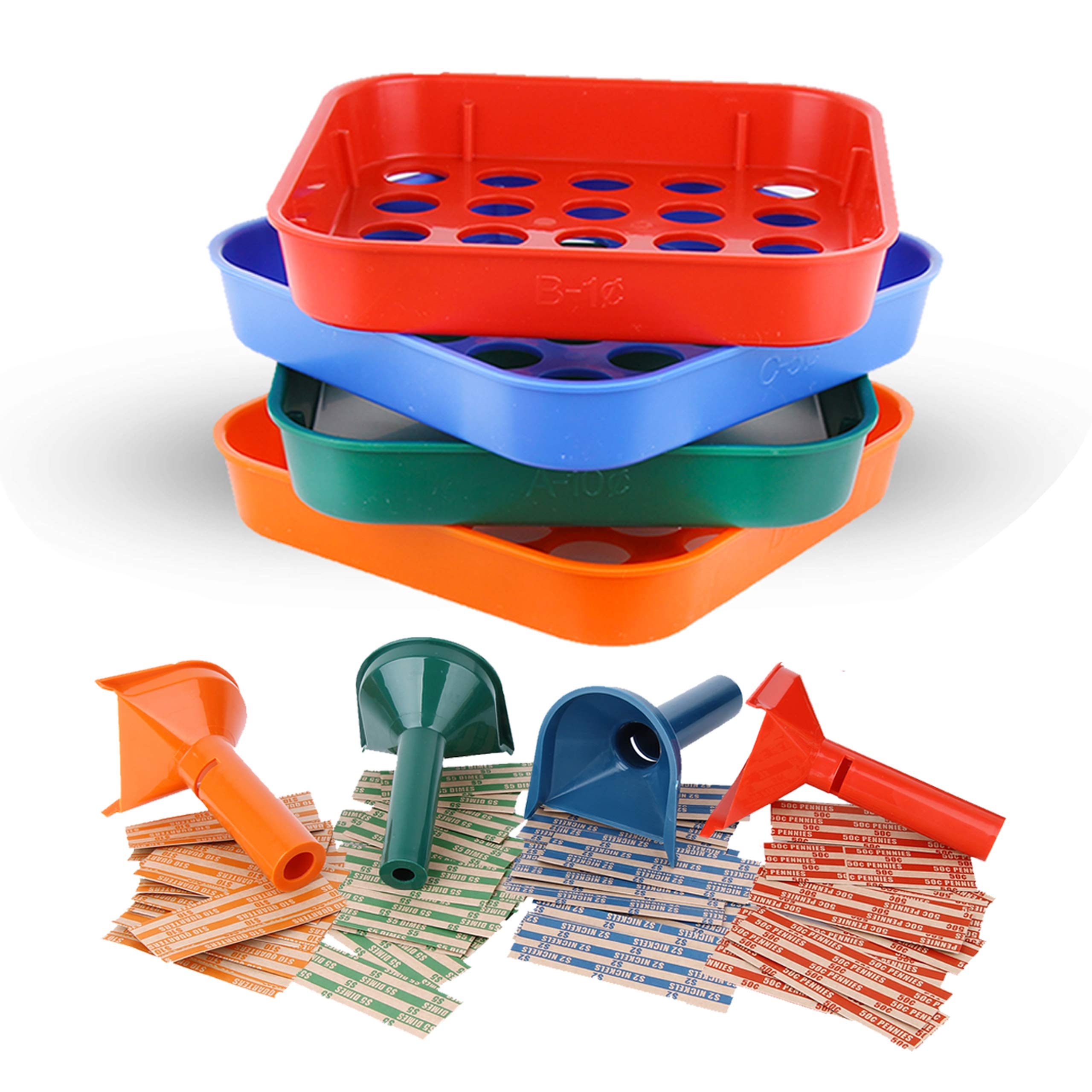 Coin Counters Tubes Sorters Tray