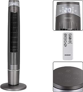Monzana Ventilador oscilante a 90° 55V ionizador con mando a distancia interior 3 modos 6 velocidades ventilador de pie