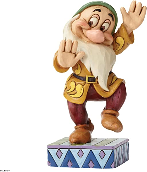Disney Traditions By Jim Shore Snow White And The Seven Dwarfs Bashful Stone Resin Figurine 4 5