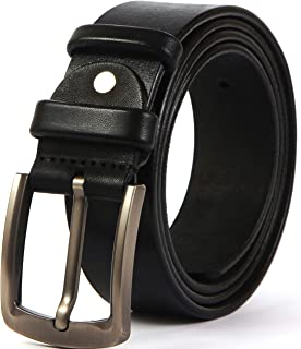 Solid Leather Goods Men's Leather Belt - Full Grain Heavy Duty Durable and Strong