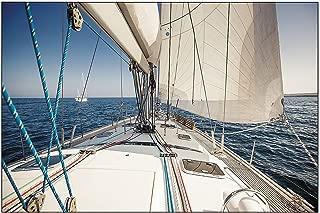 Fun Express - Sailboat/yacht Backdrop Banner - Party Decor - Wall Decor - Preprinted Backdrops - 3 Pieces