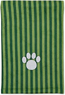 Bone Dry Pet Drying Collection Embroidered Terry Microfiber, Pet Towel X-Large, 44x27.5, Hunter Green Stripe