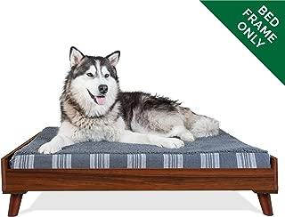 Furhaven Pet Dog Bed Frame | Mid-Century Modern Style Bed Frame Furniture for Pet Beds & Mattresses, Walnut, Jumbo