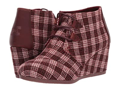 TOMS Kala (Burgundy Vintage Check) Women