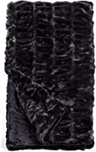 Fabulous Furs: Faux Fur Luxury Throw Blanket, Onyx Mink, Available in generous sizes 60