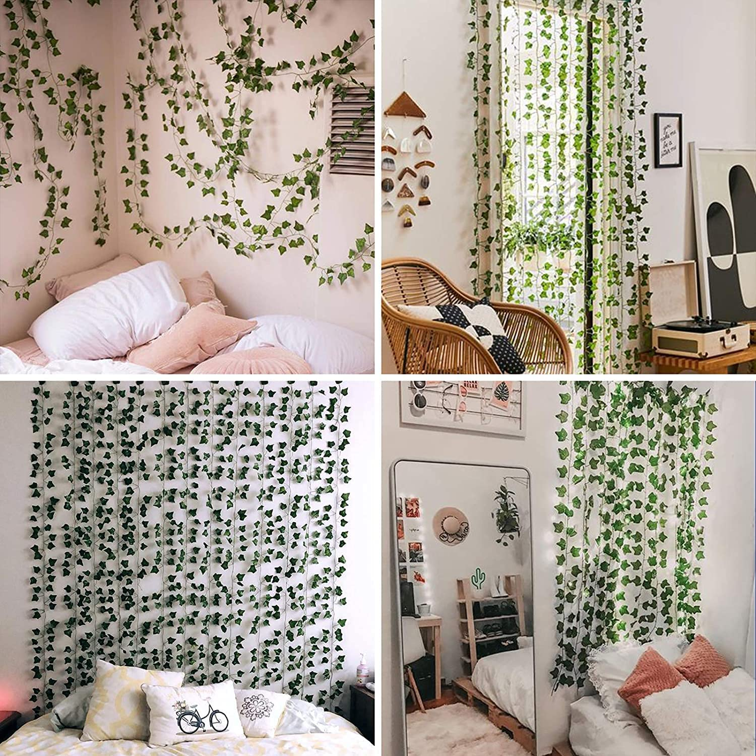 HATOKU 20 Pack Fake Ivy Garland Fake Vines Artificial Ivy, Fake Leaves  Greenery Hanging Plants for Wedding Wall Decor, Party Room Aesthetic Decor,  20 ...
