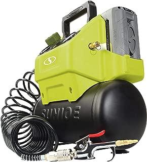 Sun Joe IONAIR-CT 40V 4.0-Ah Cordless 1.6-Gallon Air Compressor w/Inflator Accessories, (Core Tool) (Renewed)