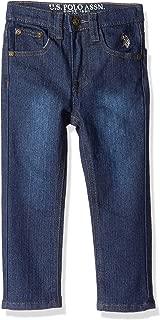 U.S. POLO ASSN. Toddler Boys' Straight Leg Jean, Flex Denim Washed Indigo, 3T