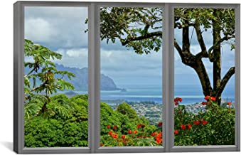iCanvasART Hawaii Window View Canvas Art Print, 26 by 18-Inch