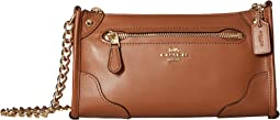 코치 미키 크로스바디백 새들 COACH Grain Leather Mickie Crossbody,Saddle