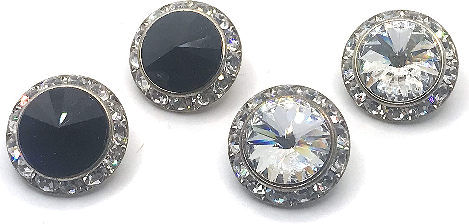 Circular Bedazzled Stoned Statement Evening Clip-On No Piercing Needed Earrings