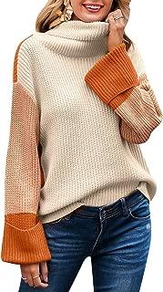 Women's Casual Long Sleeve Turtleneck Sweater Pullover Knit Jumper