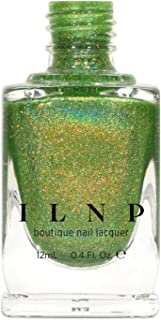 ILNP 1UP - Lime Green Holographic Nail Polish, Chip Resistant Manicure, Long Wear Nail Lacquer, Smooth & Glossy Finish, Non-Toxic, Vegan, Cruelty Free, 12ml