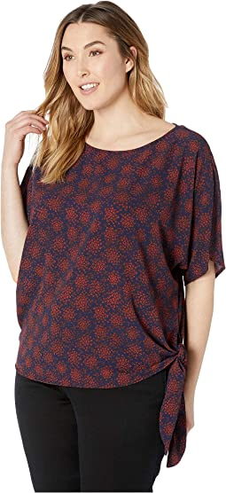 Plus Size Field Flower Tie Top