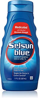 Selsun Blue Medicated Maximum Strength Dandruff Shampoo, 11 Fl Oz, Pack of 1