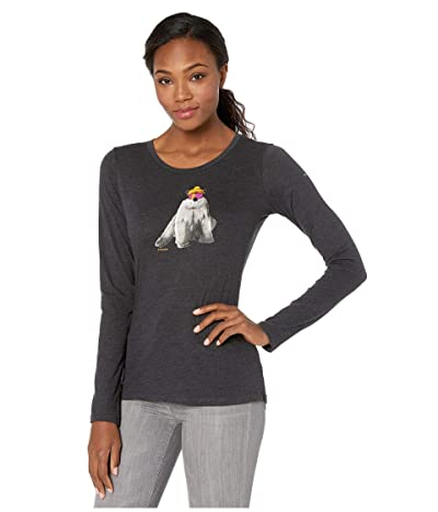 Columbia Ruby Fallstm Long Sleeve Tee (Black Heather/Polar) Women