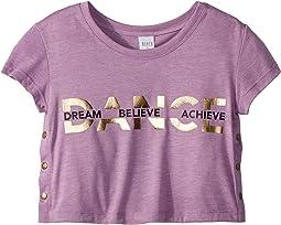 Snap Side Crop T-Shirt (Little Kids/Big Kids)