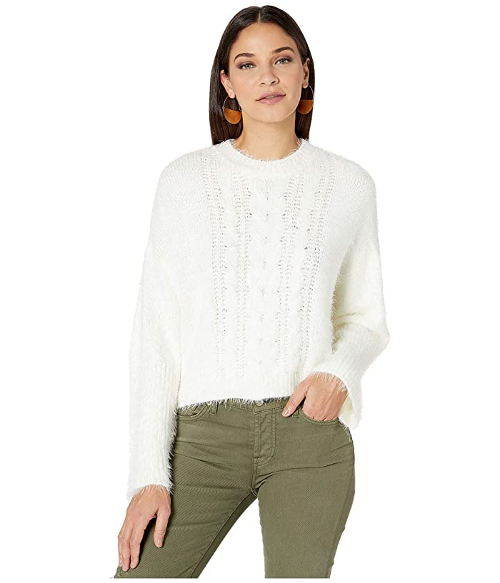 BB Dakota  Feelin Lashy Eyelash Cable Knit Sweater (Ivory) Womens Sweater