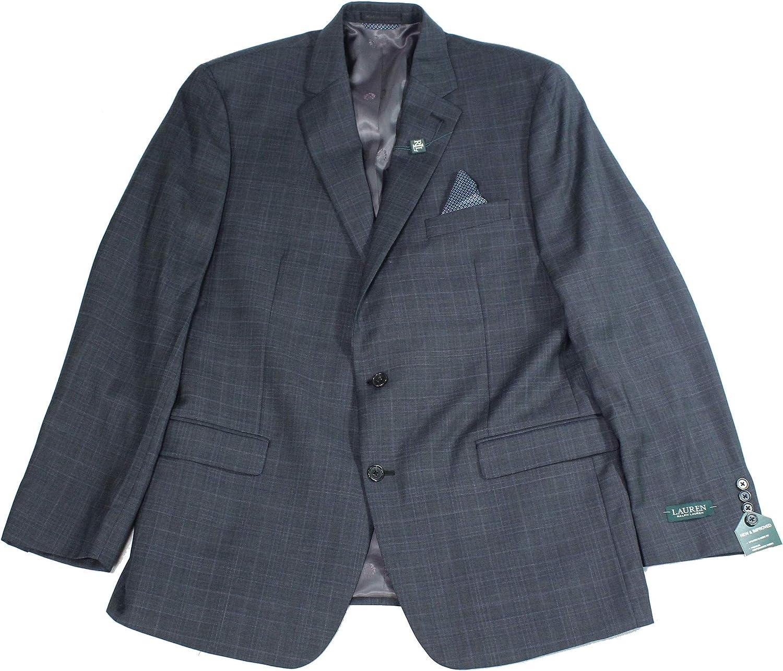 Lauren by Ralph Lauren Mens Sport Coat R Plaid Classic Fit Gray 46
