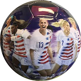 Icon Sports U.S. Soccer USWNT World Cup Soccer Balls (5, USWNT Graphic Players Ball Purple)