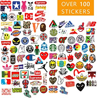 Supreme Vsco Stickers Pack | 101 Stickers Pack | Laptop Vinyl Teens Stickers for waterbottles, Hydro Flasks, Skateboard, Cars, Motorcycles, Computers, iPhones