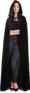 Crizcape Unisex Halloween Costume Cape Hooded Velvet Cloak for Men and Womens