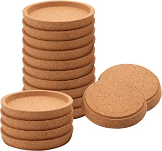 Yesland 12 Pack Cork Coasters, 4 Inch Absorbent Round Cork for Most Kind of Mugs in Office, Home, or Cottage - 5/8'' Thick