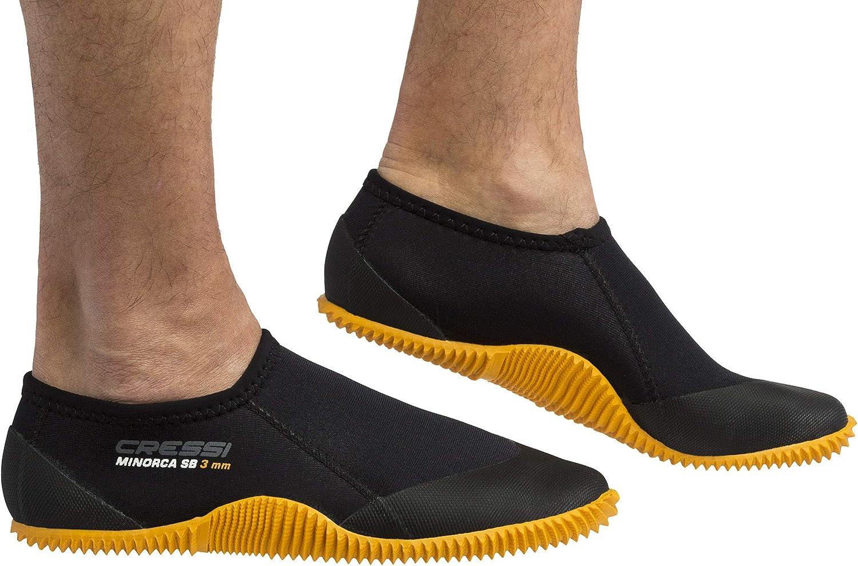 Cressi Men's Minorca Shorty Boots Max Ranking TOP15 57% OFF Black Sole