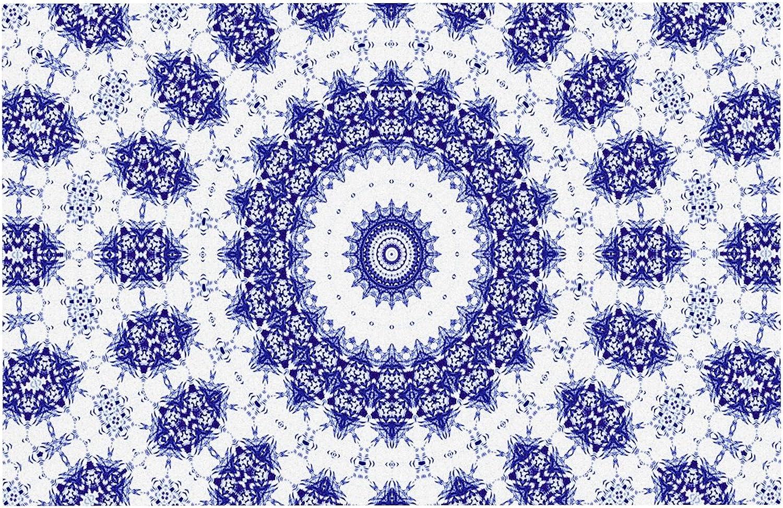 KESS InHouse IL2092ADM02 Iris Lehnhardt M2 bluee White Dog Place Mat, 24  x 15