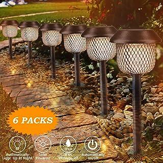 Lámpara solar para jardín, Tencoz LED Luz de la antorcha solar IP44 Luz de Llama Jardin Solares Exterior Luces de decoración con energía solar Luces para caminos de jardín
