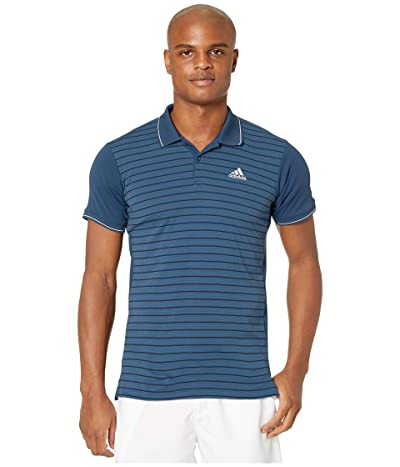 adidas Heat.Rdy Striped Polo Shirt (Tech Indigo) Men