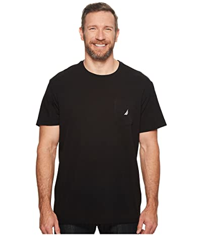 Nautica Big & Tall Big Tall Short Sleeve Anchor Pocket Tee (True Black) Men